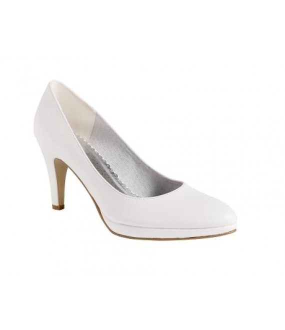 Lilly bridal shoes with high heels (07-1981-CR) - The Beautiful Bride Shop
