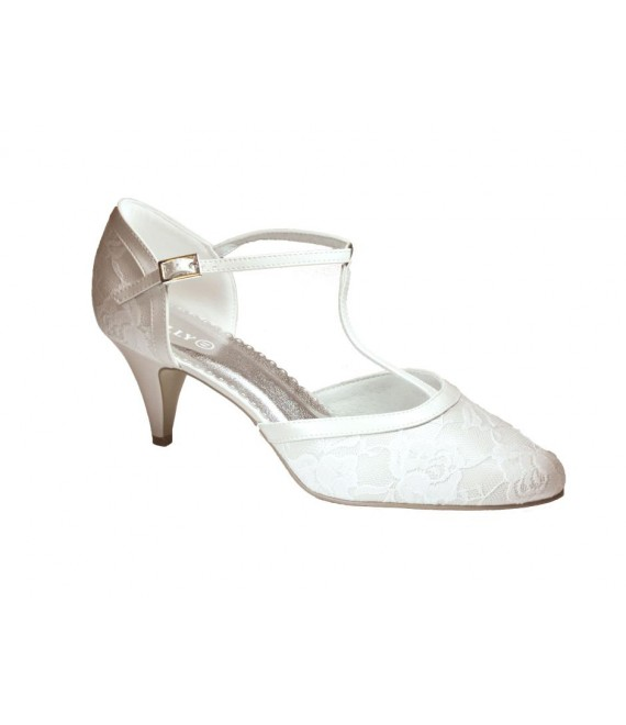 Lilly Bridal Shoes (07-1997-CR) - The Beautiful Bride Shop
