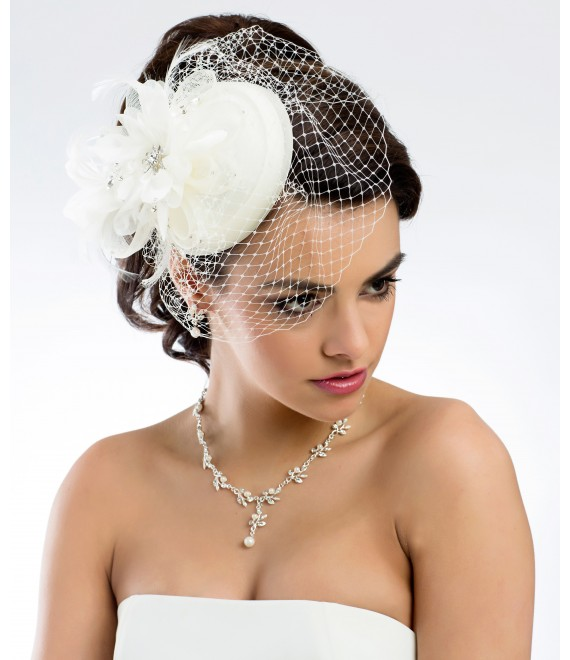 Mini hat - Pillbox fascinator 107 - The Beautiful Bride Shop