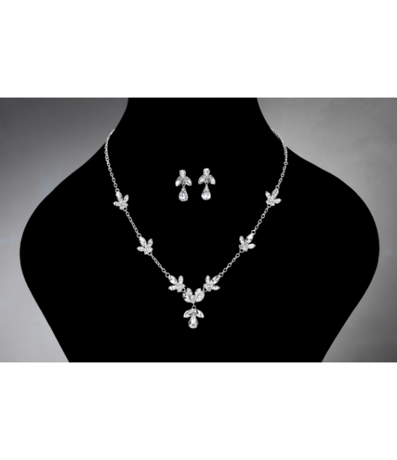 Noblesse necklace and Earrings 2382 - The Beautiful Bride Shop