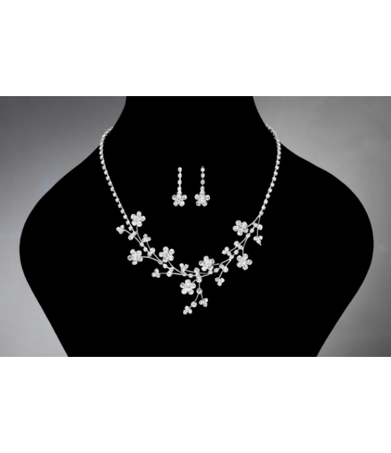 Noblesse necklace and Earrings 2386 - The Beautiful Bride Shop