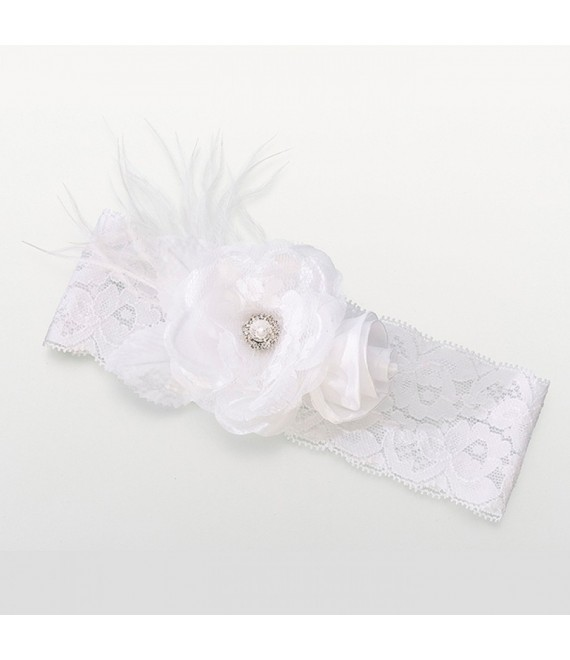 Lillian Rose White Vintage Lace Wide Garter - The Beautiful Bride Shop