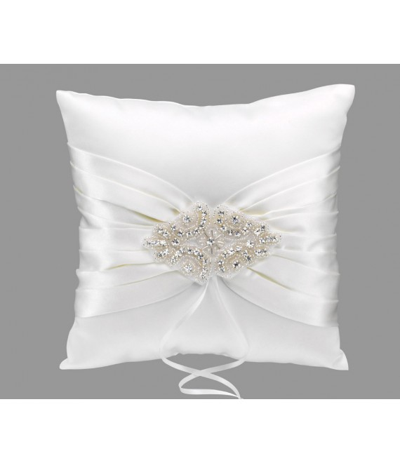 Emmerling Style 39042 Ivory Jewelled Ring Cushion - The Beautiful Bride Shop