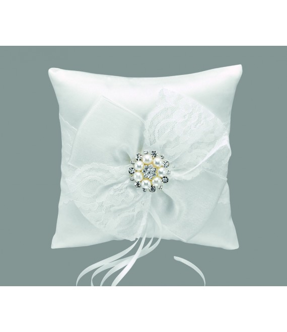 Emmerling Style 39043 Ivory Jewelled Ring Cushion - The Beautiful Bride Shop