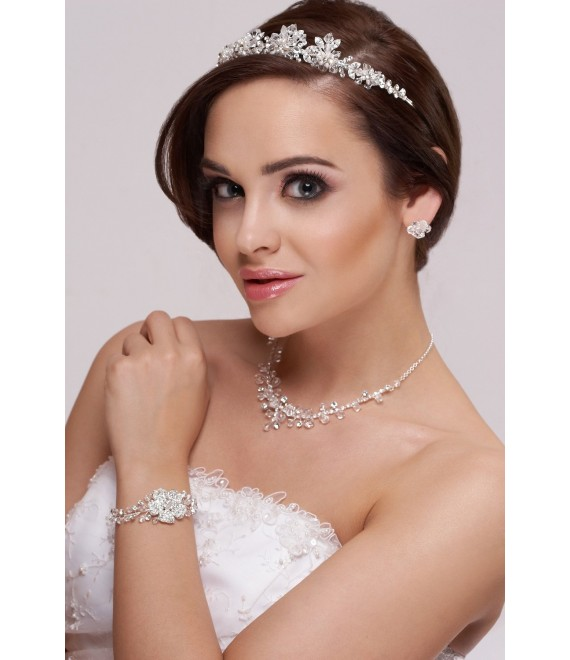 Tiara, Necklace and Earrings D34-N23 - The Beautiful Bride Shop