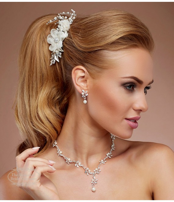 Elegant necklace with earrings N31 - The Beautiful Bride Shop