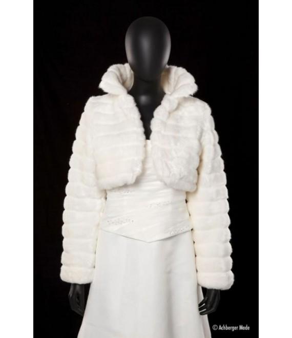 Achberger Faux-fur jacket 60501 - The Beautiful Bride Shop