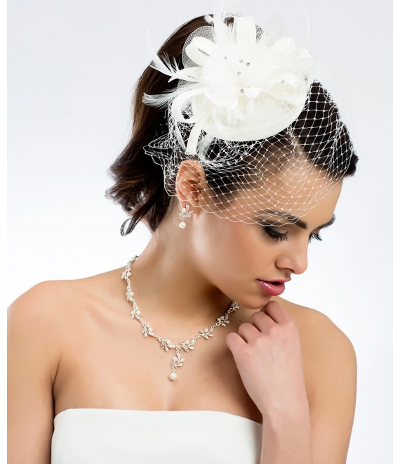Mini hat / Pillbox fascinator 92 - The Beautiful Bride Shop