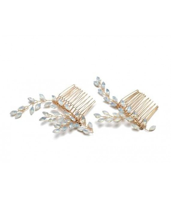 Abrazi Bridal Haircomb H2-NV OPAL