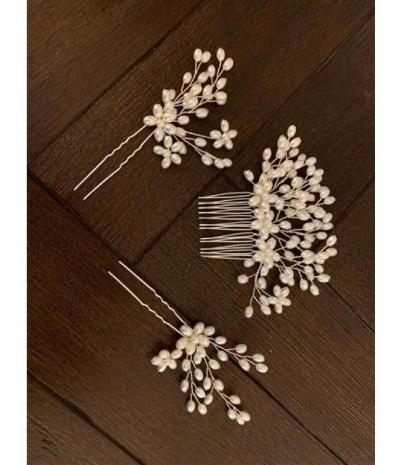 Abrazi Bridal Haircomb H4-P3 Rose