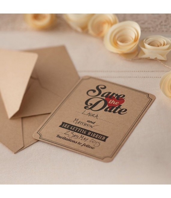 Save The Date Brown Kraft Cards 1 - The Beautiful Bride Shop