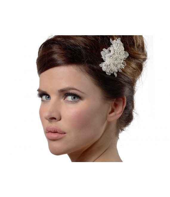 Hair Jewelry with lace BB-1574 Poirier - The Beautiful Bride Shop