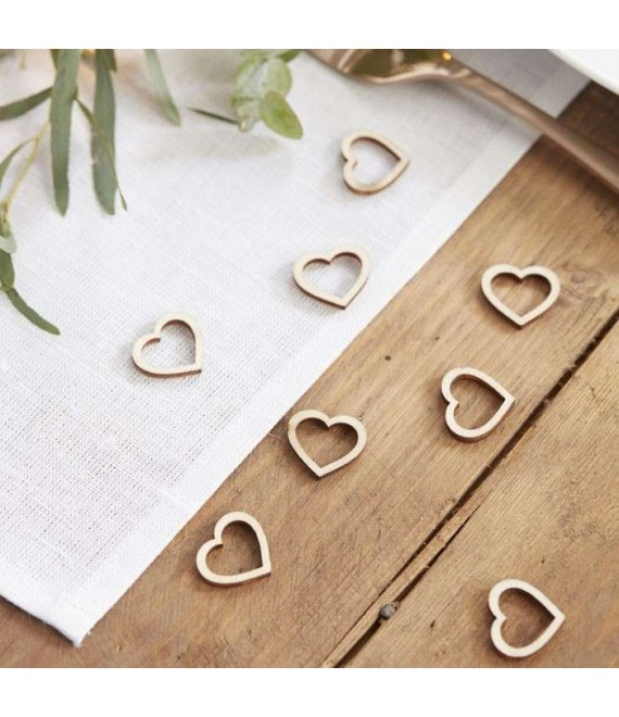Wooden Heart Table Confetti - Beautiful Botanics - 1