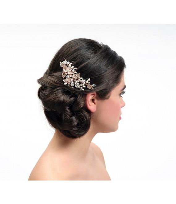 Poirier Bridal Haircomb BB-432 Rose