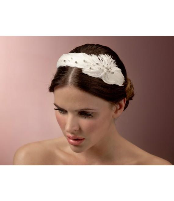 Feather Diadem BB-510 Poirier - The Beautiful Bride Shop