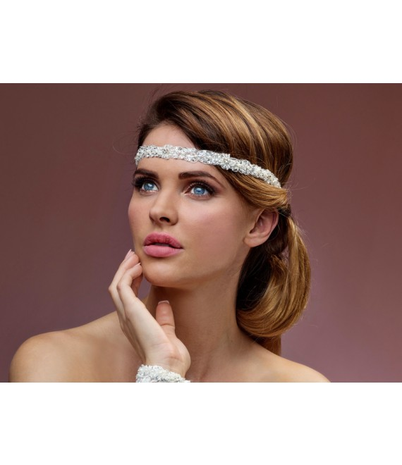 Luxury Headband BB-8515 Poirier - The Beautiful Bride Shop