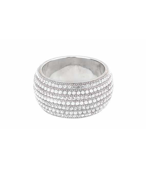 Pearl and Strass stone Bracelet BB-930 Poirier - The beautiful Bride Shop