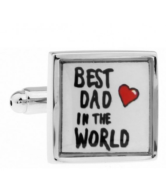 Best dad in the world Cufflinks - The Beautiful Bride Shop