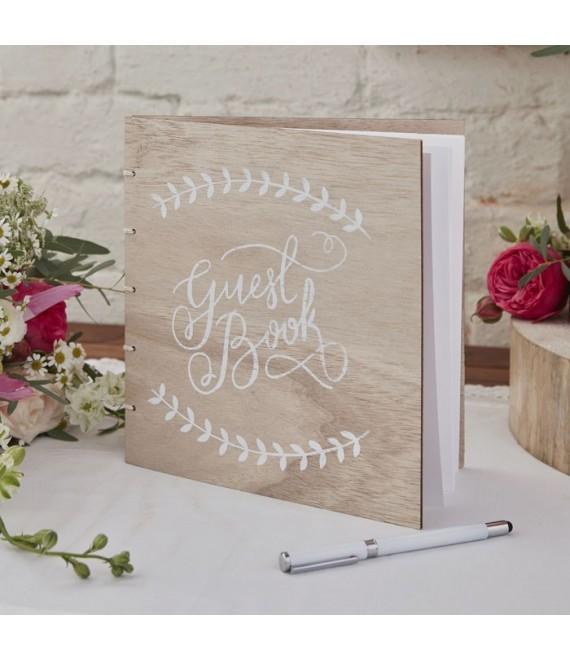 Wooden Guest Book Boho - The Beautiful Bride Shop