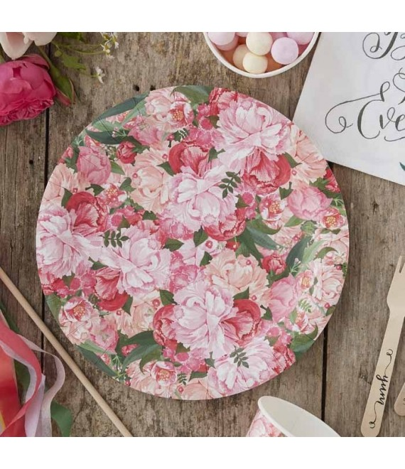 Floral Paper Plates BH-753 - The Beautiful Bride Shop