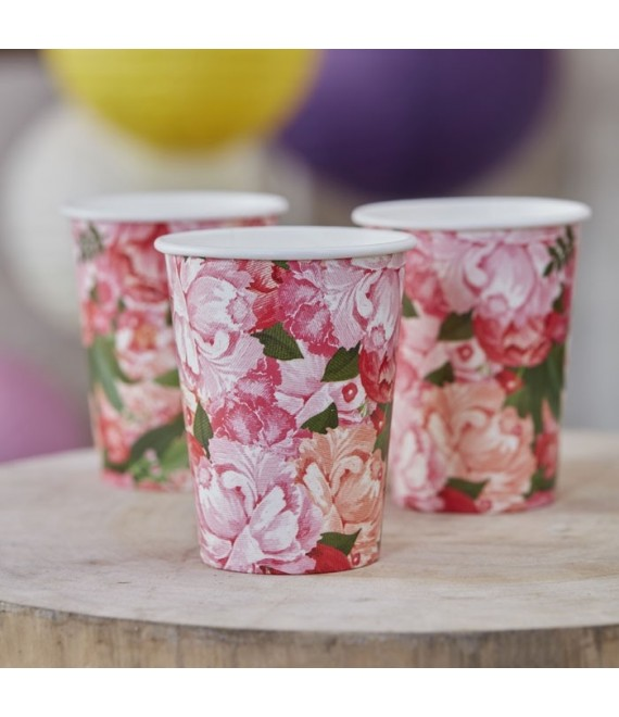 Floral Paper Cups BH-757 - The Beautiful Bride Shop