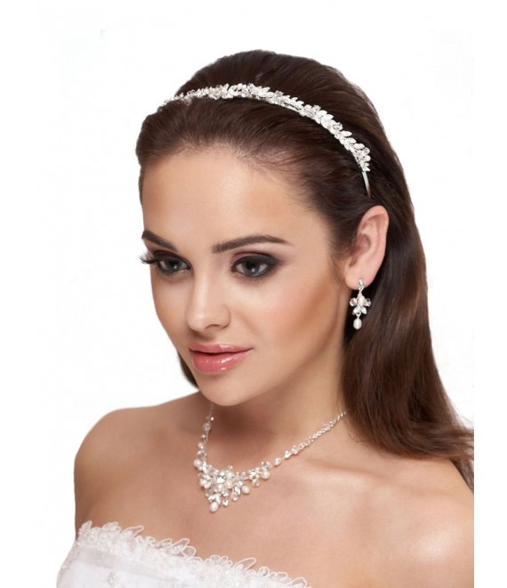 Tiara, Necklace and Earrings D36-N25 - The Beautiful Bride Shop