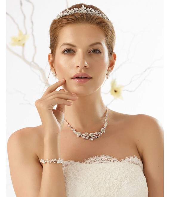 Bianco Evento Tiara, Necklace, Earrings and Bracelet D40-N27-28 - The Beautiful Bride Shop