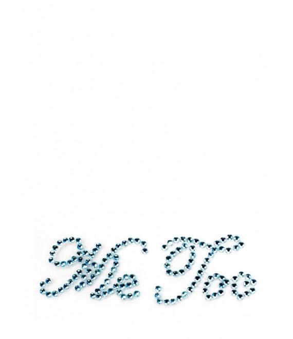 Me Too Bridal shoe stickers blue - The Beautiful Bride Shop