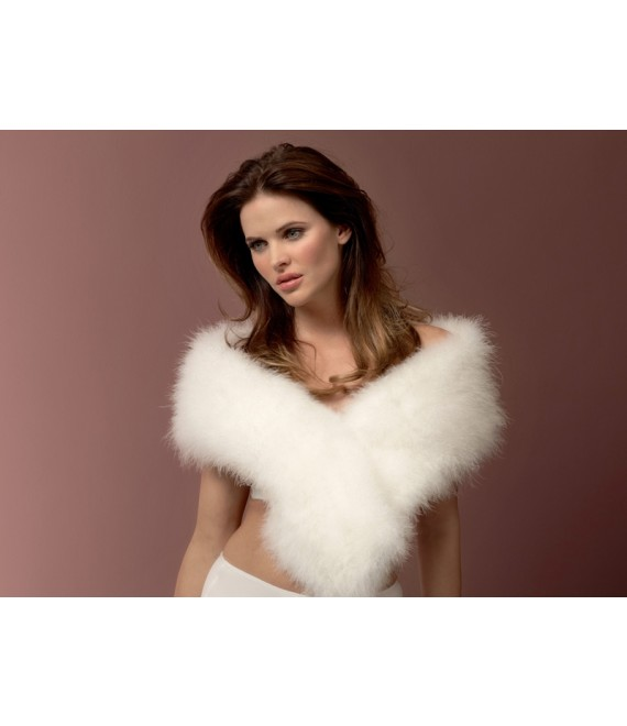 Marabou Stole BOL-09 Poirier - The Beautiful Bride Shop