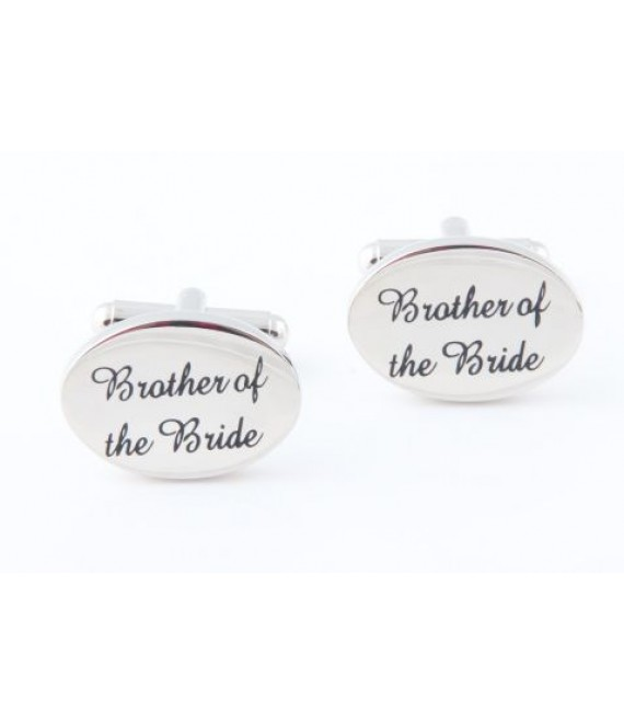 Silver wedding role cufflinks set Brother of the Bride - The Beautiful Bride Shop