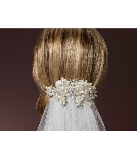 Veil Clip C-1635 Poirier - The Beautiful Bride Shop
