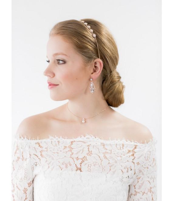 Bridal Earrings - Abrazi O6-RND-SKT Rose
