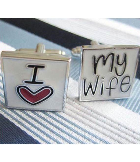 I Love My Wife Cufflinks - The Beautifil Bride Shop