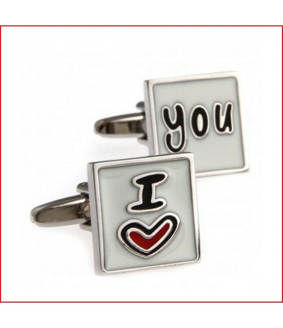 I Love You Cufflinks Cufflinks - The Beautifil Bride Shop