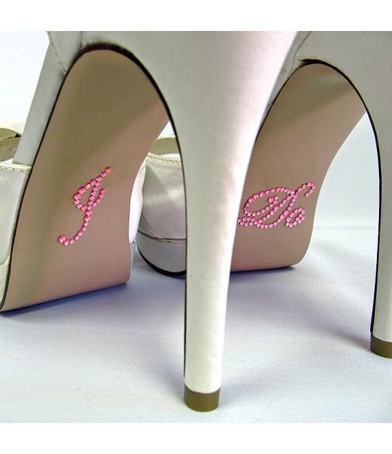 I DO sticker pink- The Beautiful Bride Shop
