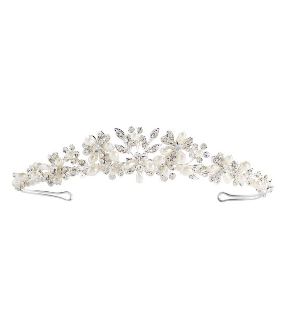 Diadem Lilly 03-375-SV-0 - The Beautiful Bride Shop