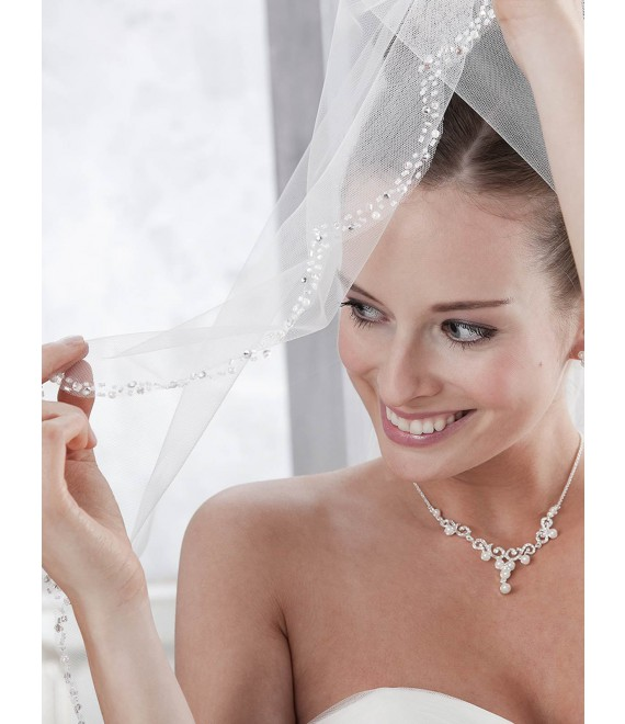 Emmerling Veil 10092-Ivory-one layer - 150 x 65 cm