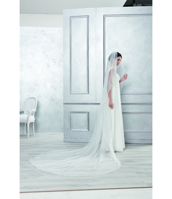 Emmerling Veil 4052-Ivory-one layer -150 x 65 cm
