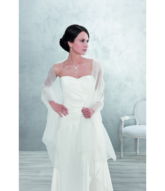 Emmerling Stole for the Bride 2236-White 70x200 cm