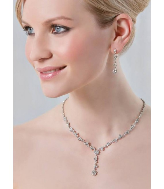 Emmerling necklace and Earrings 66192  - The Beautiful Bride Shop