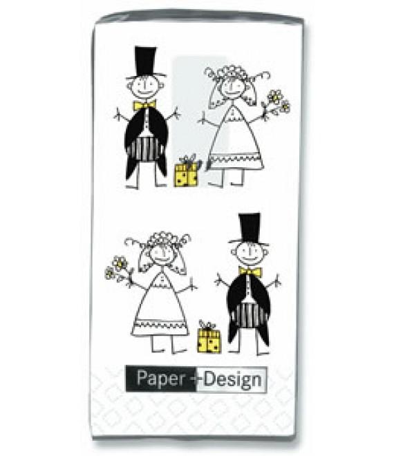handkerchiefs just married - The Beautiful Bride Shop