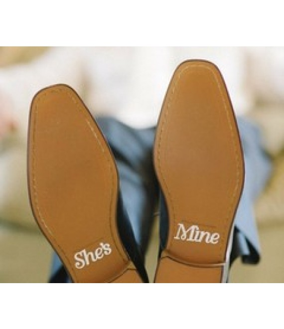 She's Mine shoe stickers crystel - The Beautiful Bride Shop