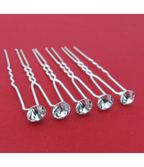 Hair Accessory Hairpins crystal  - The Beautiful Bride Shop