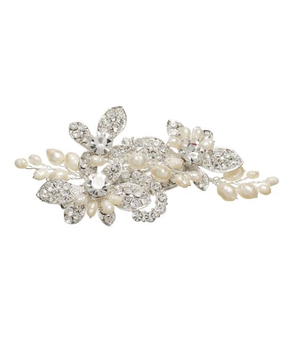 Lilly Hair clip (03-394-SV-0) - The Beautiful Bride Shop