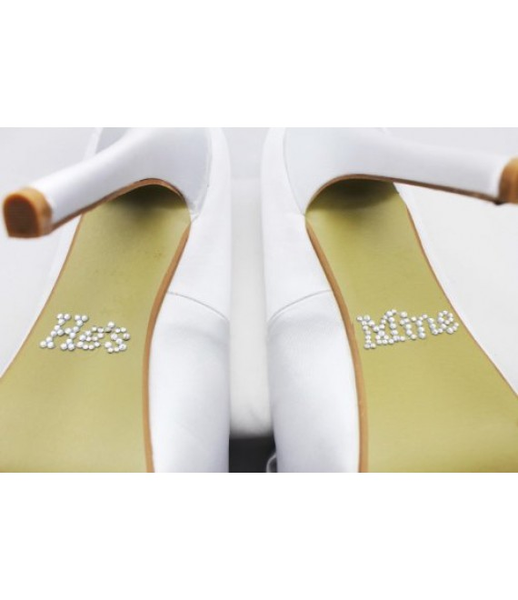 Crystal He's Mine shoe stickers - The beautiful Bride Shop