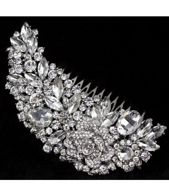 Hair comb with crystals - The Beautiful Bride Shop