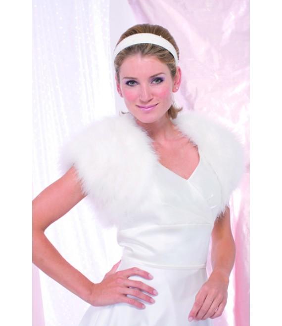 Achberger marabou jacket 5680221 - The Beautiful Bride Shop