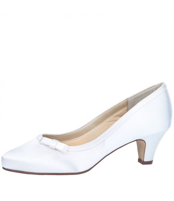 Rainbow Club Wedding Shoes Josephine White - The Beautiful Bride Shop