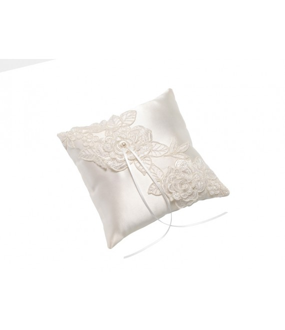 Ring Pillow with flowers KB-155 Poirier - The Beautiful Bride Shop