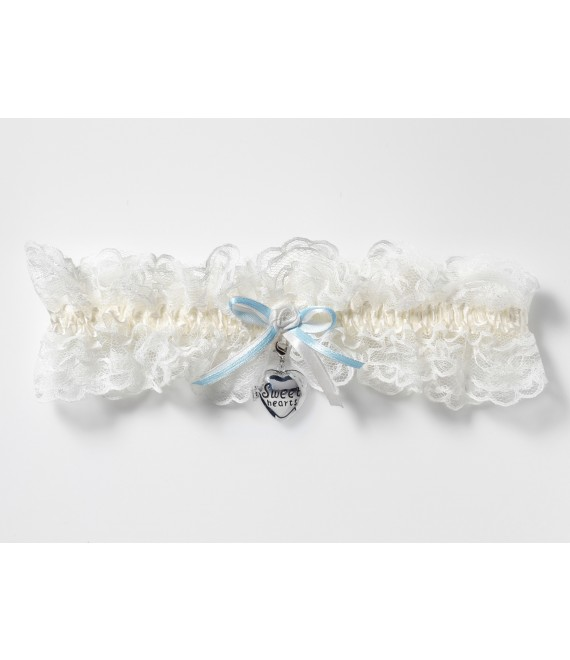 Luxury Garter with locket KB-33 Poirier - The Beautiful Bride Shop